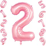 40 Inch Tiffany Pink Big Number 2 Balloon Birthday Party Decorations Helium Foil Mylar Number Balloon Digital 2