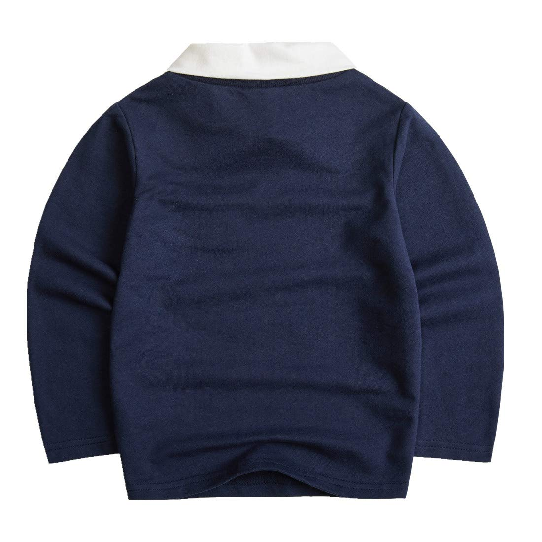 Sooxiwood Little Boys Polo-Shirt Long Sleeve Gentle