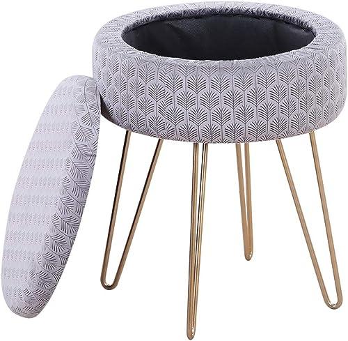 Mxfurhawa Velvet Round Footrest Stool Ottoman