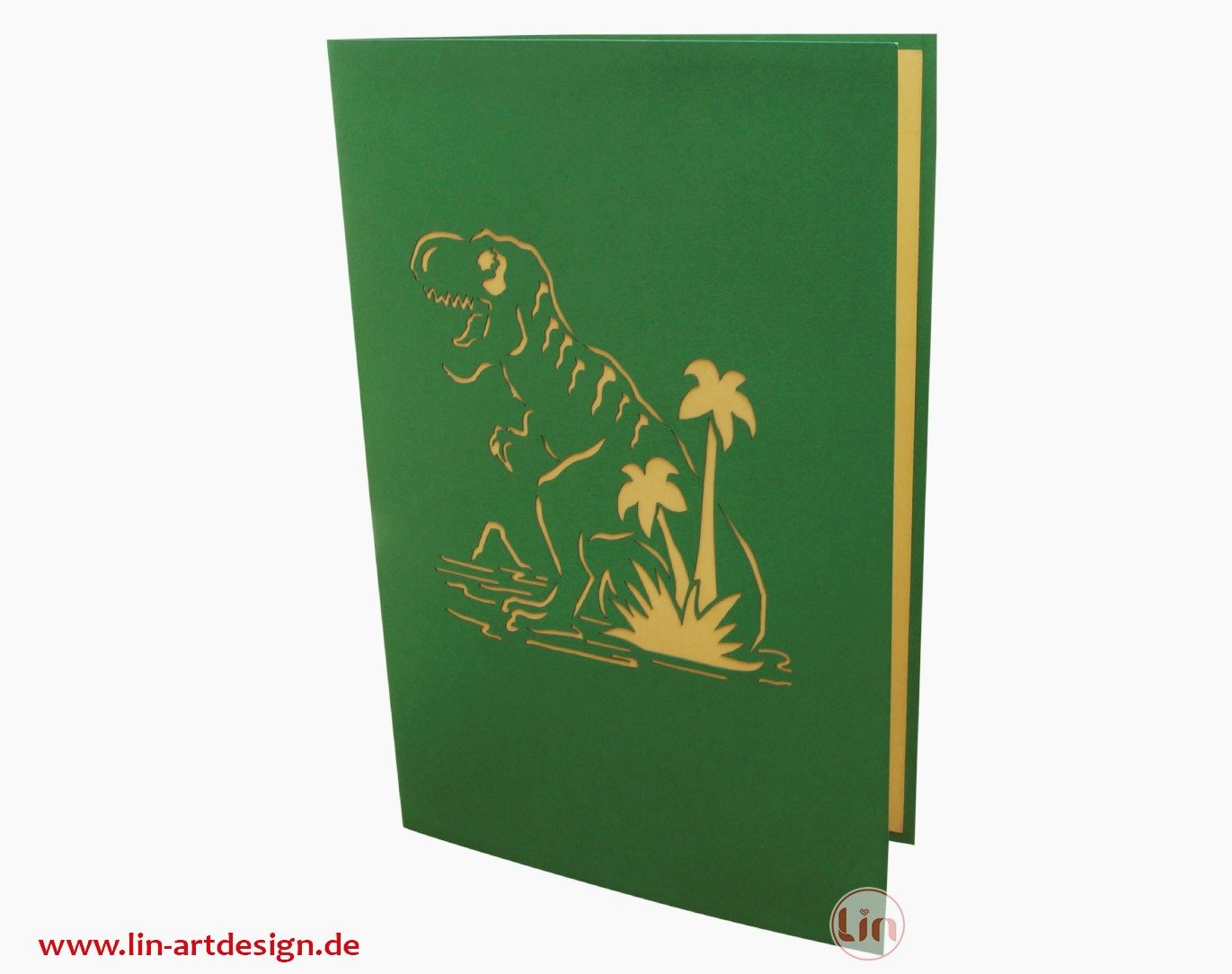 Lin 17538/ /Pop Up 3D cartes de v/œux Dino cartes carte danniversaire dinosaure 3D pop up Cartes Carte danniversaire einschulung n292
