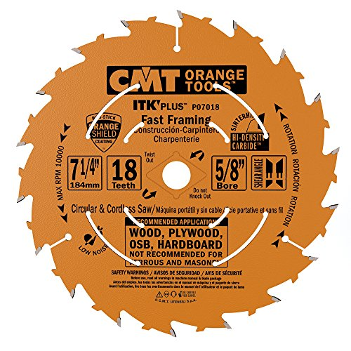 CMT P07018-x10 Saw Blade cutting kit for Fast Framing Masterpack with 7-1/4