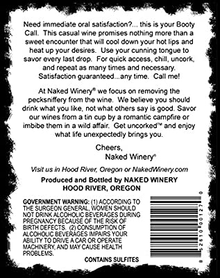2013 Naked Winery Booty Call Blush 750 ml