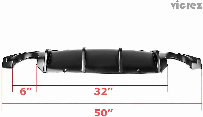 Vicrez Infiniti Q50 2014-2017 VZ Style Polyurethane Rear Diffuser vz100341