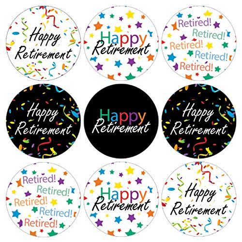 Retirement Party Favor Labels | 216 Stickers