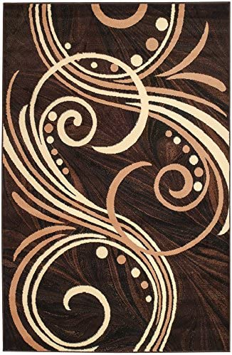 Summit 24 New Large Area Rug Choco Beige Brown Modern Abstract Rug Many Aprx 5 x8 Actual Size is 4 .10 x7 .2