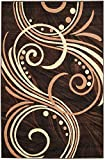 "Cheap Summit 4D-PSJF-CZR4 24 New Area Choco Beige Brown Modern Abstract Rug Many Aprx 2×3 Actual is 22""x36"
