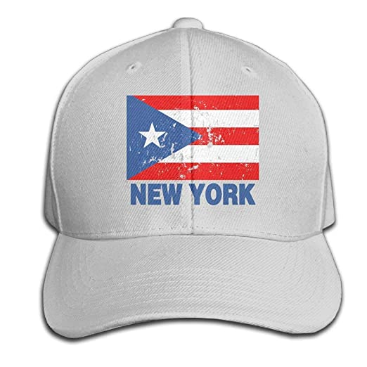 ad09d9786bb New York Puerto Rican Vintage Flag Snapback Sandwich Cap Black Baseball Cap  Hats Adjustable Peaked Trucker Cap at Amazon Men s Clothing store