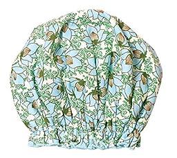 Bath Accessories Bouffant Shower Cap, Lotus Garden Print