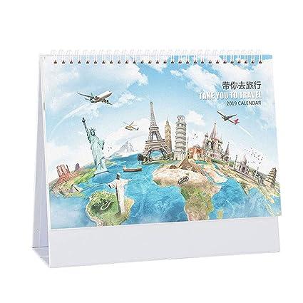 December 2020 Calendardesktop Amazon.: ARHSSZY 2019 2020 Stand up PVC Cover Desk Calendar