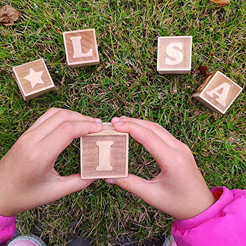 Best Quality - Blocks - 1Pcs Personalized Wood Name Blocks Custom Letter Blocks Personalized Alphabet Blocks Wooden Toy Nursery Decor - by Kiartten - 1 Pcs - Unfinished Wood Letter ()