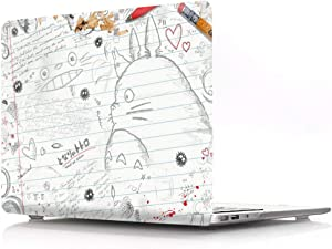 HRH Drawing Totoro Design PC Hard Cover for MacBook New Pro 13 Case M1 A2338 with Touch bar A2159 A1706 A1989/A2289/A2251/A2338 Without Touch bar A1708 A1988(2020 2019 2018 2017 2016 Release)