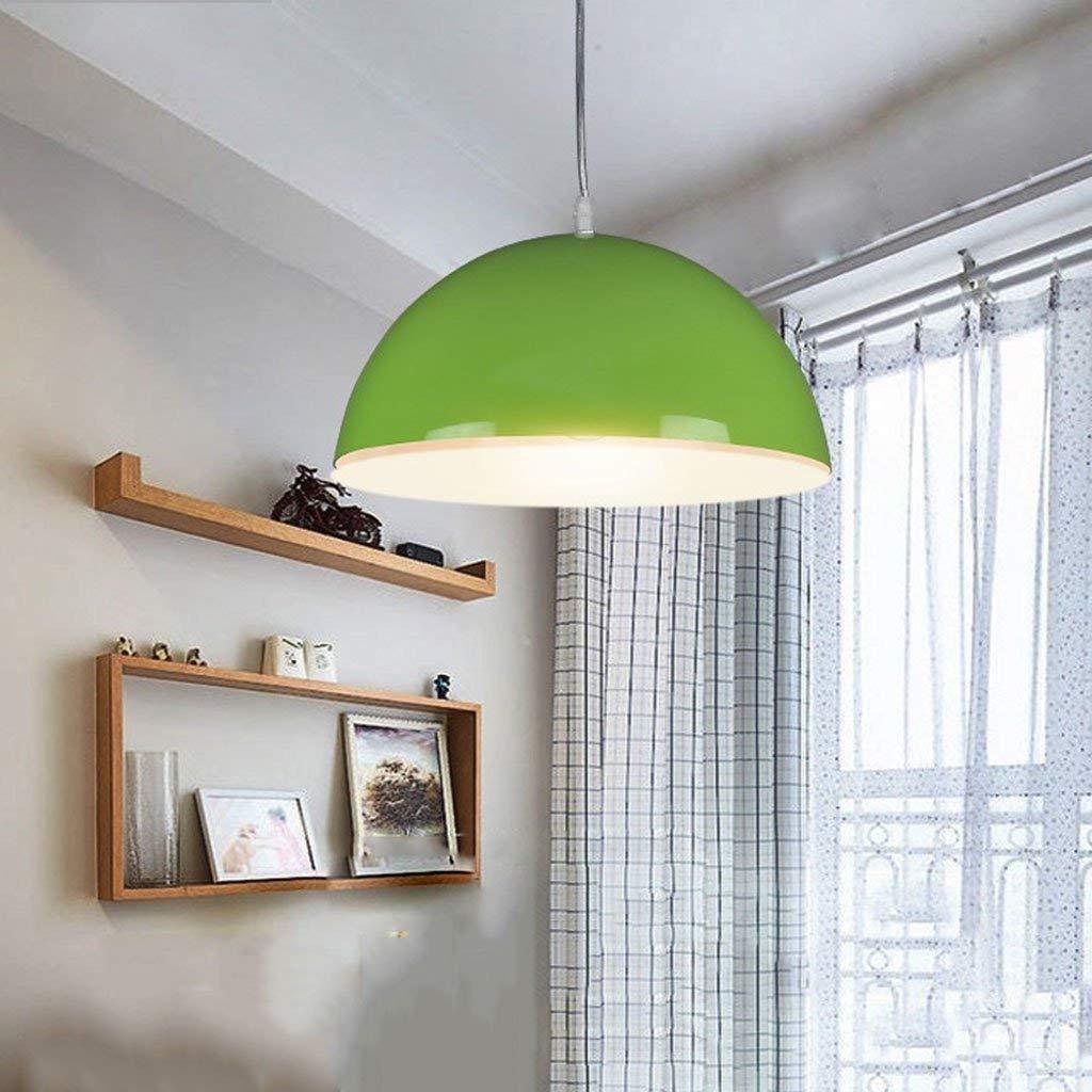 AMA Gbyzhmh Das Weinlese-Beleuchtungs-Grün für die FußGänger, die einfach modernes u. Kreatives halbkreisförmiges Lampen-Schatten-einzelner Kopf 30  19 cm beleuchten Unsichtbare hängende Lampen-Stan