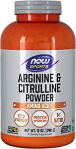 NOW Sports Nutrition, Arginine & Citrulline Powder, 1:1 Ratio, Amino Acid, 12-Ounce