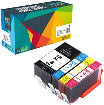 Pro 6230 6830 Printers Smart Print Supplies Compatible 934XL C2P23AN Black High Yield Ink Cartridge Replacement for HP OfficeJet 6812 6815 - 4 Pack 1,000 Pages