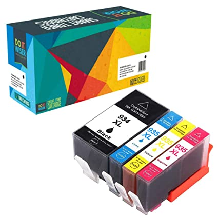 Do it Wiser- Cartuchos de Tinta Compatibles con HP 934XL 935XL OfficeJet Pro 6830 Ink 6230 6815 6810 6812 6220 6835 6820 (Pack de 4)