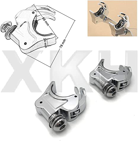 XFMT 39mm Aluminum Quick Release Windshield Clamps Compatible with Harley Davidson Dyna Sportster