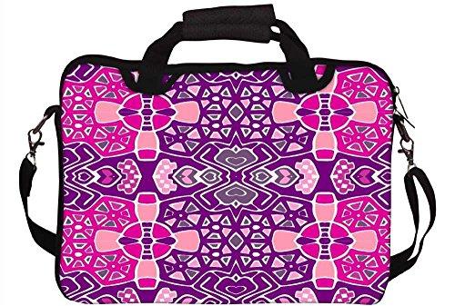 Snoogg gemischt Farbe Muster 30,5cm 30,7cm 31,8cm Zoll Laptop Notebook Computer Schultertasche Messenger-Tasche Griff Tasche mit weichem Tragegriff abnehmbarer Schultergurt für Laptop Tablet PC Ult