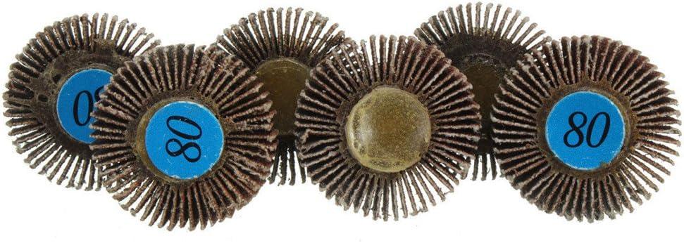 10 X Sanding Sandpaper Flap Wheel Disc 80# Grit for Dremel Shank Rotary Tools