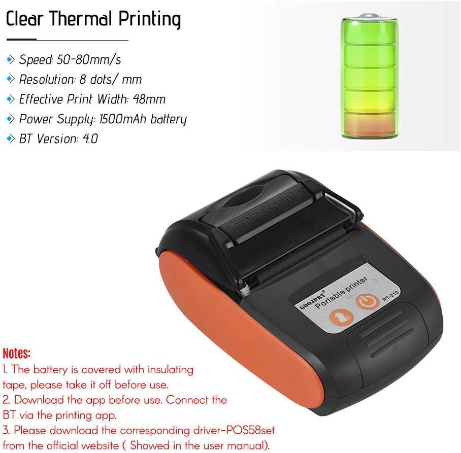 Aibecy GOOJPRT PT-210 Portable Thermal Printer Handheld 58mm Receipt Printer for Retail Stores Resta…