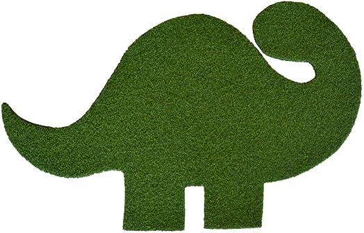 Always Greener Dinosaur Synthetic Grass Doormat Rug Wall Art Decor