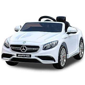 Bseion Mercedes-Benz Auténtico vehículo eléctrico autorizado para niños Se puede sentar Control remoto en