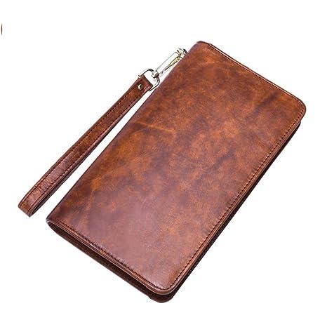 beb6d403c7df Amazon.com : MEIGARDASS Men's Leather Wallet Business Retro Multi ...