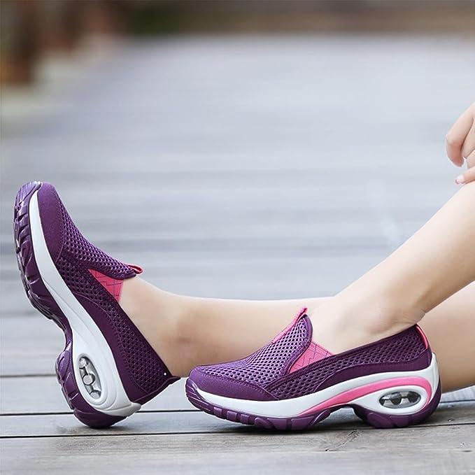 Las se/ñoras calzan los zapatos del deporte del acoplamiento zapatillas de deporte respirables de la manera del verano para el funcionamiento que va de excursi/ón el trekking el caminar que acampa