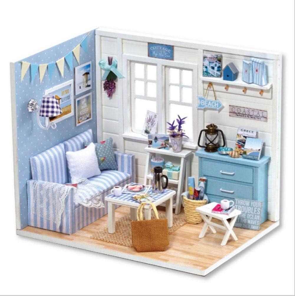 DIY Puppenhaus Holz Miniatur niedlich zart sch/ön attraktiv f/ür M/ädchen Freunde Geburtstagsgeschenk oder Kinder Kind Puppenhaus Spielzeug #1