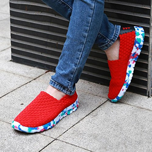 Sportswear Automne Overdose DéContracté Casual Baskets Souple Tennis Mesh Rouge Femme Enfiler Plates Été en Tissu à Chaussures Flats Comfort 7OY6q