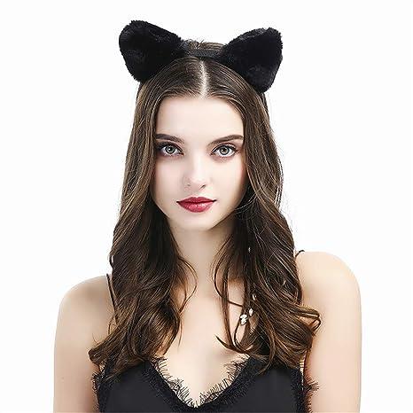 paquet à la mode et attrayant joli design magasin officiel 2 pcs Dentelle oreilles de chat Bandeaux Mode Serre-tête et ...