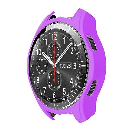 STRIR Carcasa para Smartwatch Gear,a Prueba de Golpes y Suciedad, para Smartwatch Samsung Gear S3 Frontier (Púrpura)