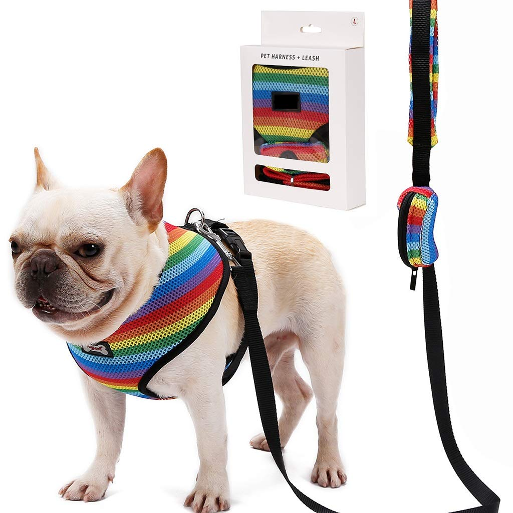 M QIQI-PET Dog Harness Pet Leads Leash Pet Vest Harness for Small Medium Large Dog Running Training Walking (Size   M)