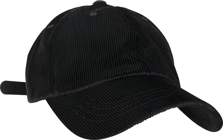 fbac45bd349 Amazon.com  Flexfit Low Profile Corduroy Satin Dad Cap - Black - One Size   Clothing