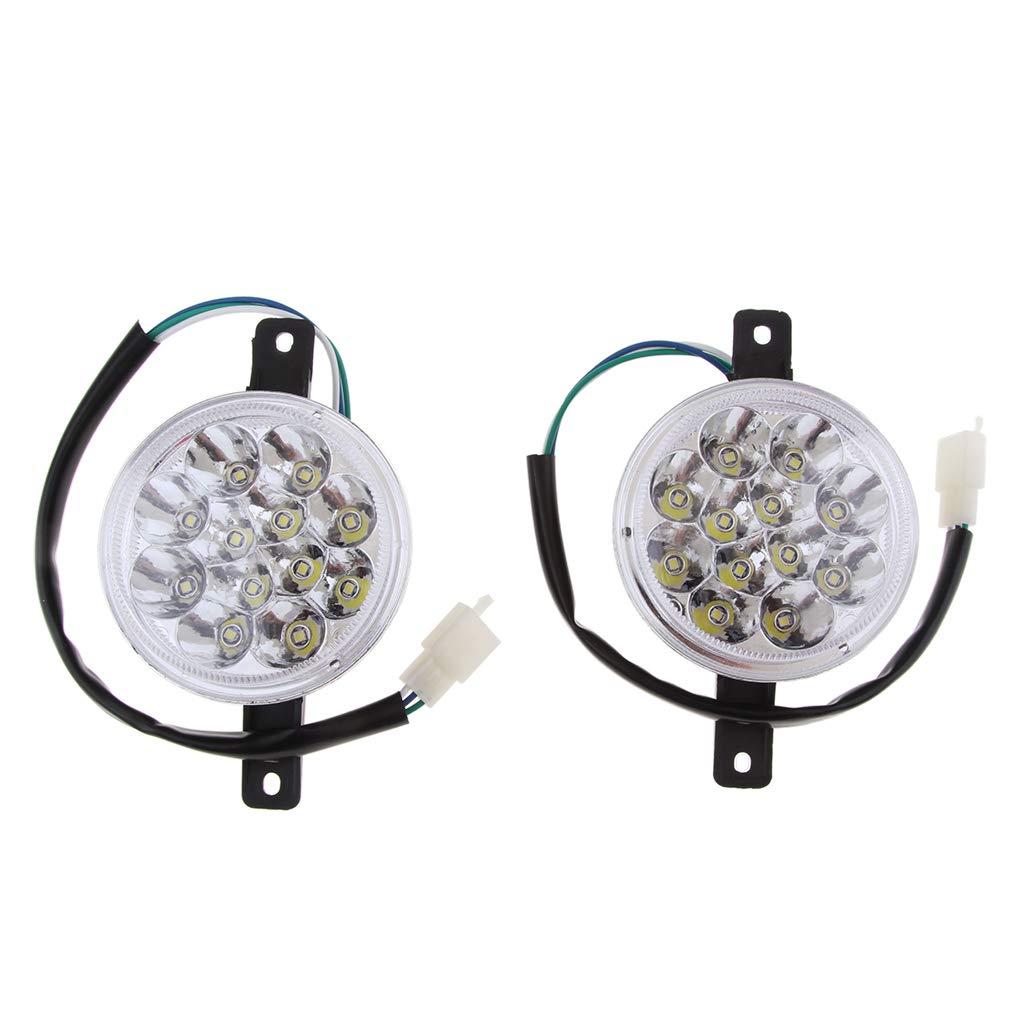 Baoblaze 2 x LED Head Light for 110cc 125cc 150cc 200cc Quad 4 Wheeler Go Kart ATV