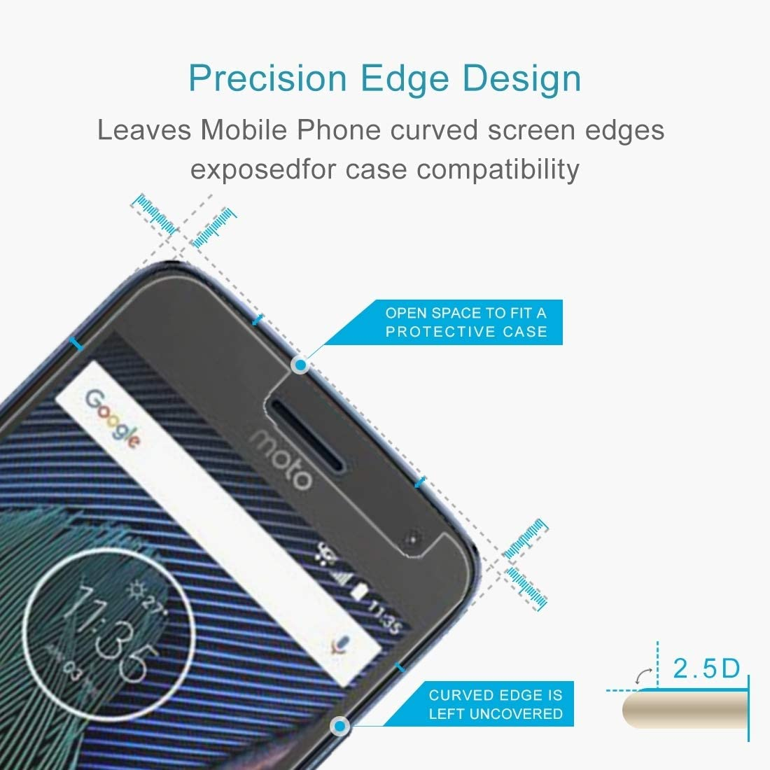 DESHENG Clear Screen Protector XINGHCEN 100 PCS for Motorola Moto G5S 0.3mm 9H Surface Hardness 2.5D Explosion-Proof Tempered Glass Non-Full Screen Film Glass Film
