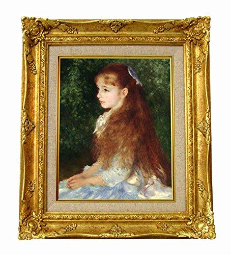 世界の名画 ルノワール イレーヌ嬢の肖像 ジークレーキャンバス複製画 豪華額装品 B00WN8CY9W
