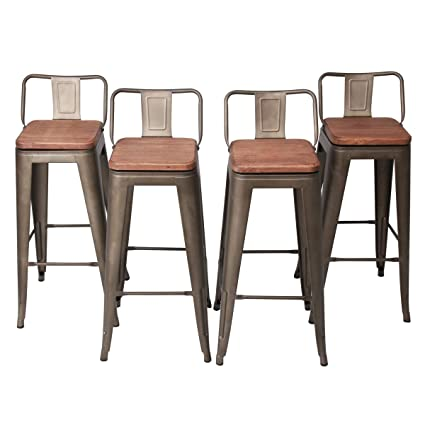 Amazoncom Changjie Furniture 30 Inch Swivel Metal Bar Stool For