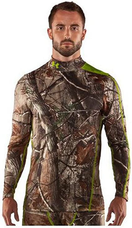 Under Armour Coldgear Infrared Scent Control Realtree Compression Shirt Men/'s S