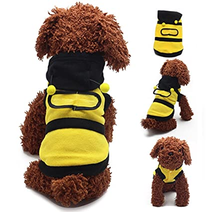 8e2efb4357e GlobalDeal Bee Style Pet Dog Cat Clothes Puppy Hoodies Coat Puppy Apparel Cat  Dog Coat Outfit