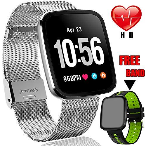 "1.3"" Smart Watch Fitness Tracker HR for Men Women Holiday Ch"