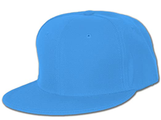 Plain Fitted Flat Bill Hat Royal Blue at Amazon Men s Clothing store  9883b9415003