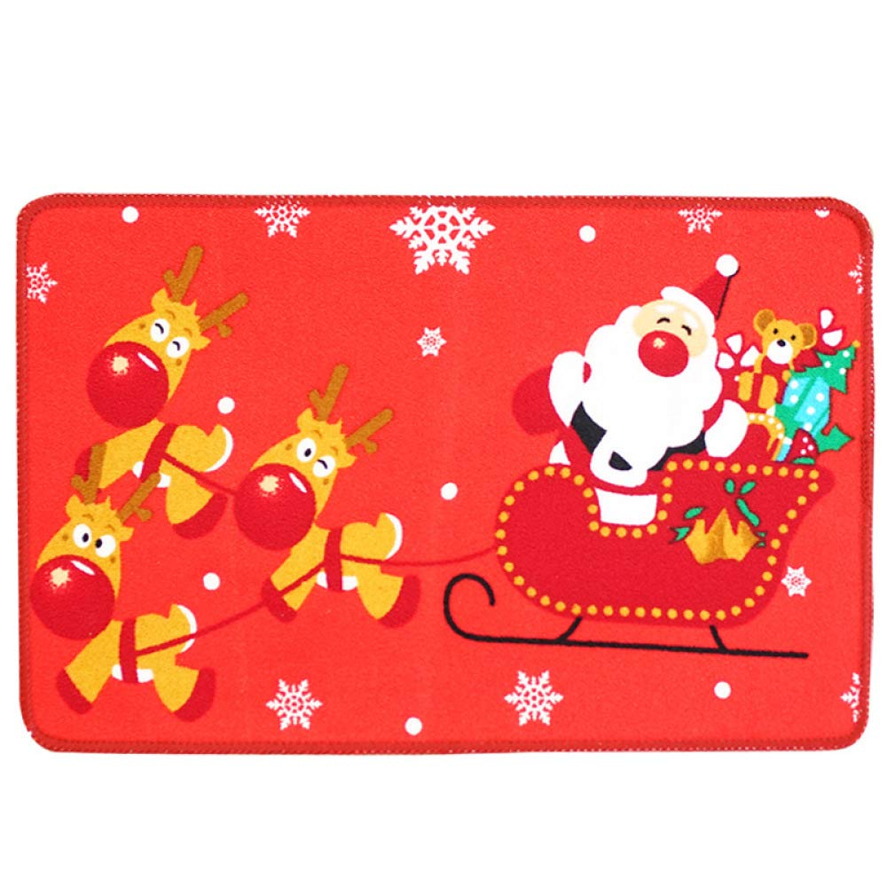 PLLP Bathroom Anti-Slip Mat, Christmas Mat, Hd Printed Bathroom Non-Slip Absorbent Mat, Bathroom Mat, Carpet,F,4060cm
