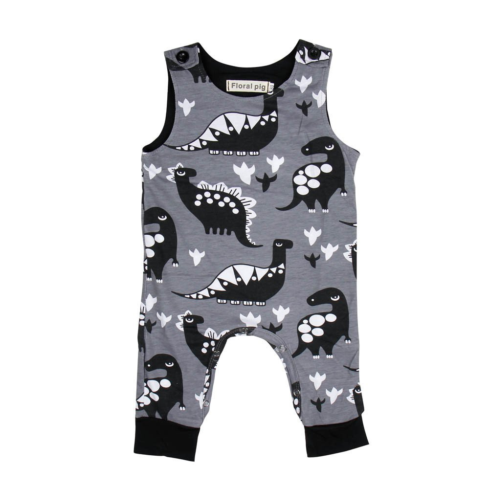 Yamally Toddler Tank Tops Baby Boy Clothes Girl Dinosaur Overall Vest Jumpsuit Yamally_9R