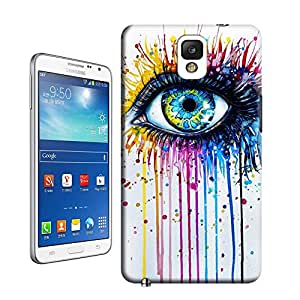 BreathePattern-432.Stunning-splashy-watercolor-painting-of-a-beautiful-eye Plastic Protective Case-Samsung Galaxy note3 case
