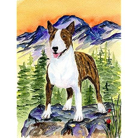 Caroline S Treasures SS8167CHF Bull Terrier Flag Canvas Large Multicolor