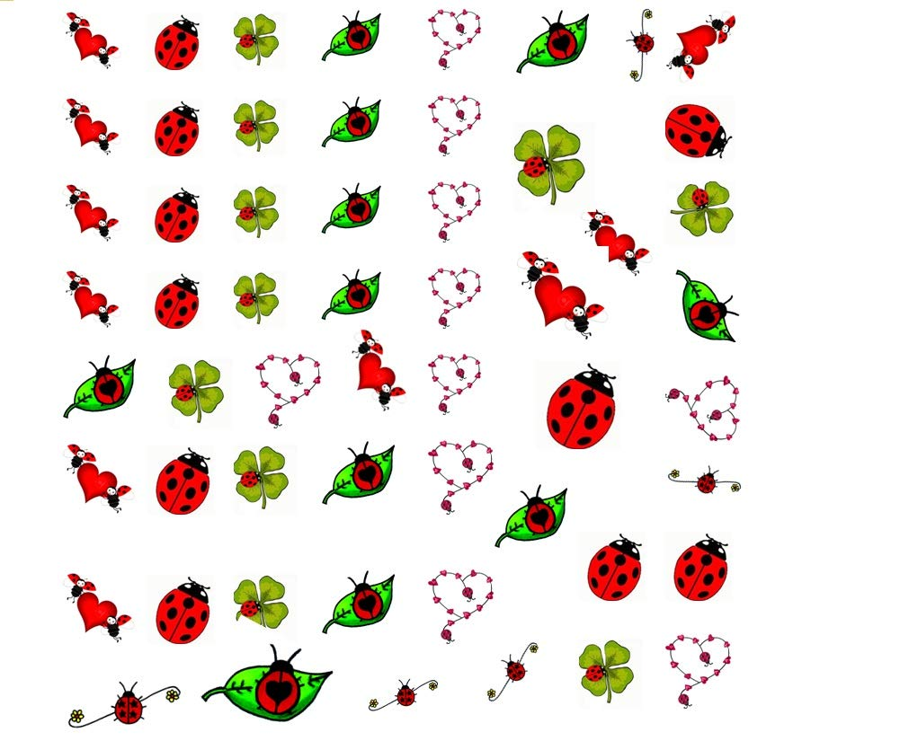 Colección de agua arte de calcomanías de uñas (mariquita ladybird ...