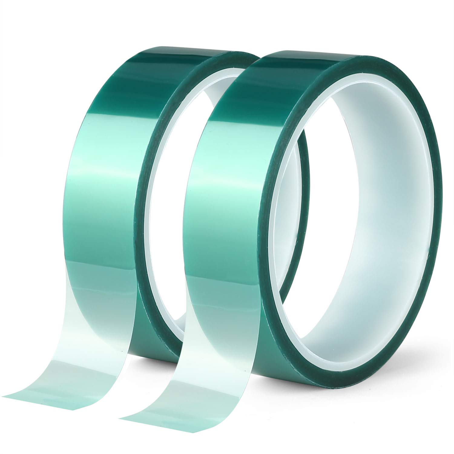 Powder Coating Circuit Boards Anodizing PET Tape with Silicone Adhesive Green,1//2 inches X 82 Feet Ideal for Painting 3 Roll Polyester High Temperature Masking Tape