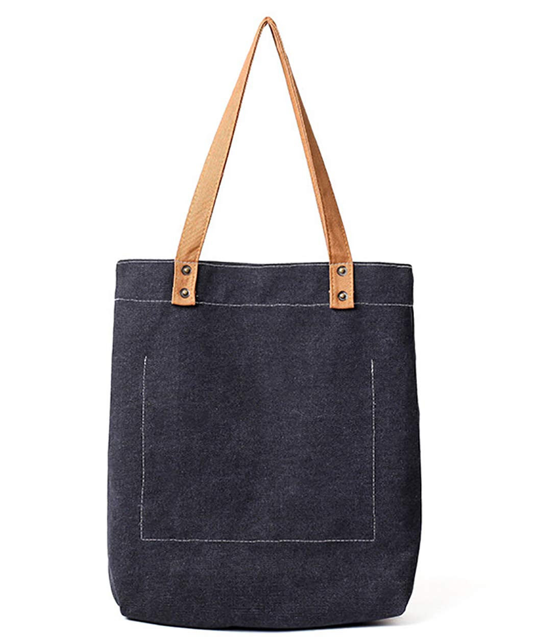 d6fb1a3ab Amazon.com: Fanspack Women's Canvas Tote Bag Simple Casual Top Handle Hobo  Bag Shoulder Bag Shopping Work Bag: Fanspack Direct