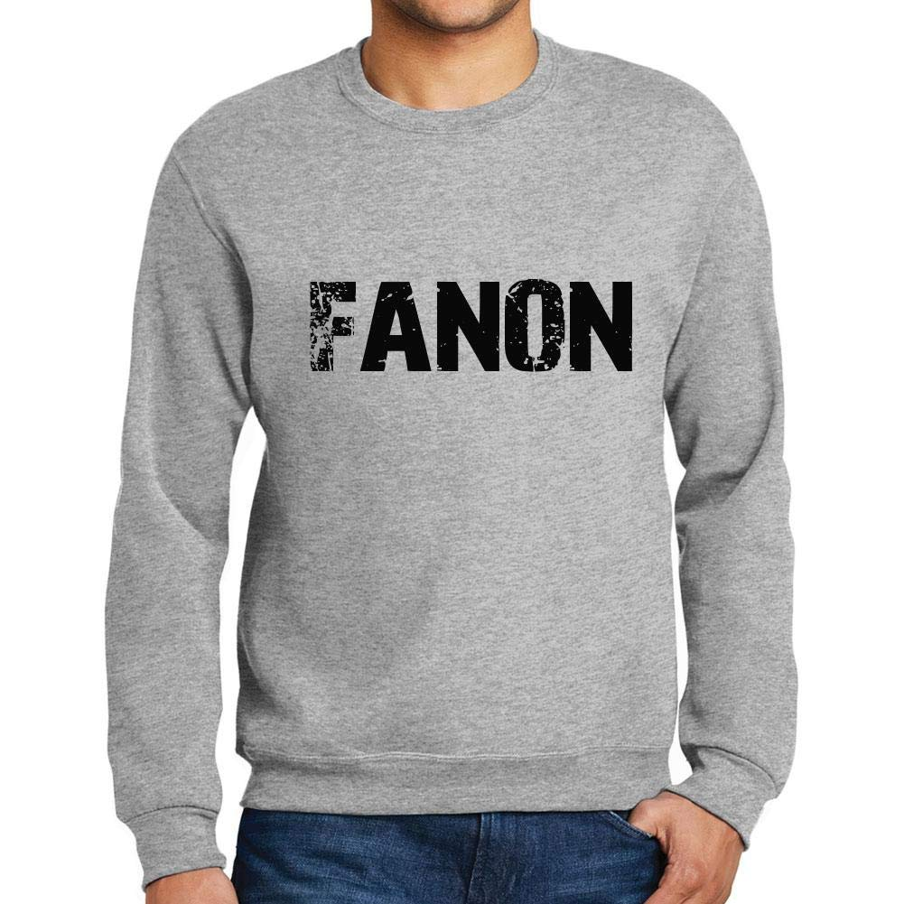 Ultrabasic Men/'s Printed Graphic Sweatshirt Popular Words Fanon Grey Marl