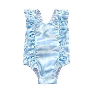 a9938da078f soAR9opeoF Infant Kids One-Piece Swimsuit Striped 2019 New Bikini Swimwear  Bodysuit Baby Girls Children